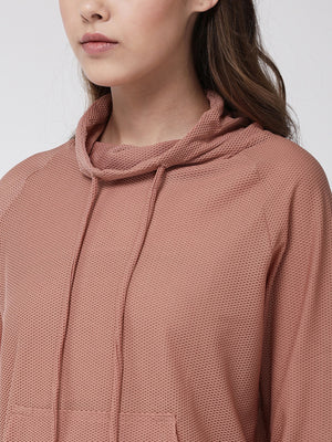 Fitkin women self design sports hoodie with pcokets