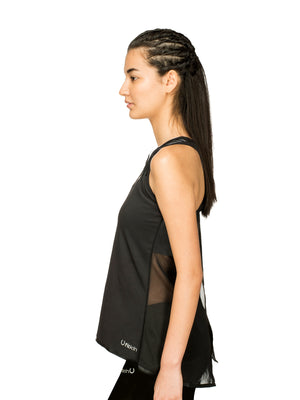 Fitkin Mesh Open Back Gym Tank Top