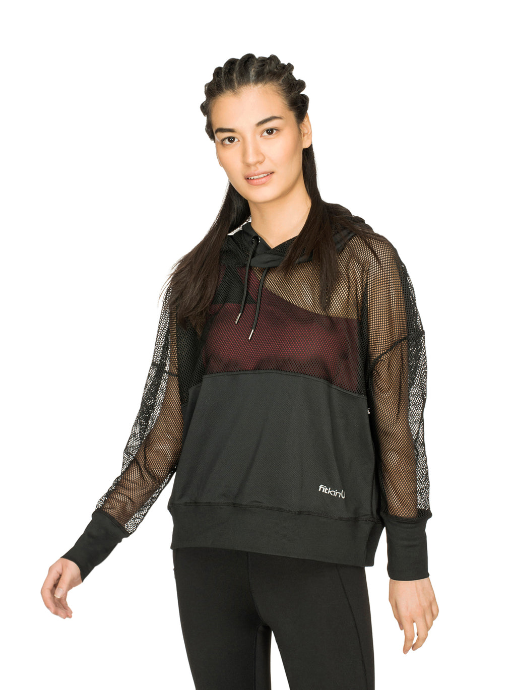 Fitkin Athleisure Relaxed Fit Hoodie Top