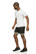 Essential Stripes Men's Training Short Sleeve T-Shirt