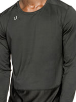 Urban Fit Men's Black/Blue Training Long Sleeve T-Shirt