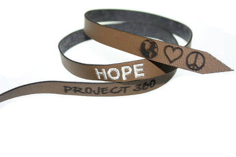 American Foundation for Suicide Prevention: HOPE EMBROIDERED BRACELET (UNISEX)