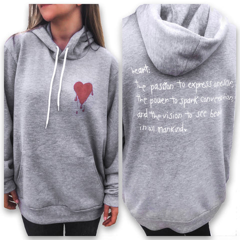"The Crayon Initiative: Painted ""heART"" Pullover Hoodie"