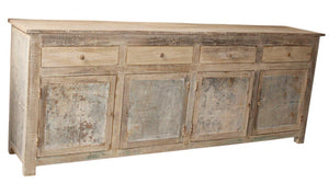WOOD IRON GALVANIZED SIDEBOARD