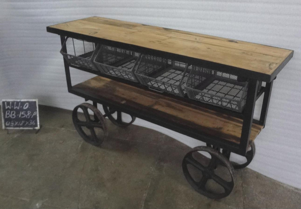 IRON + WOODEN CART
