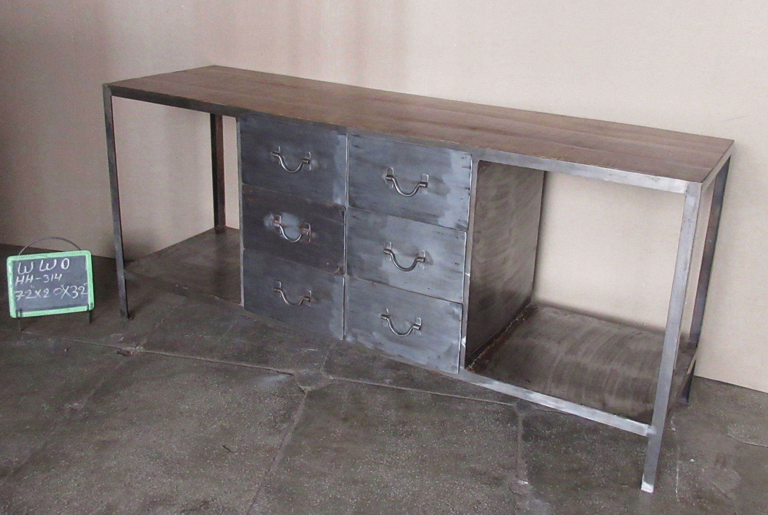 IRON + WOODEN SIDEBOARD