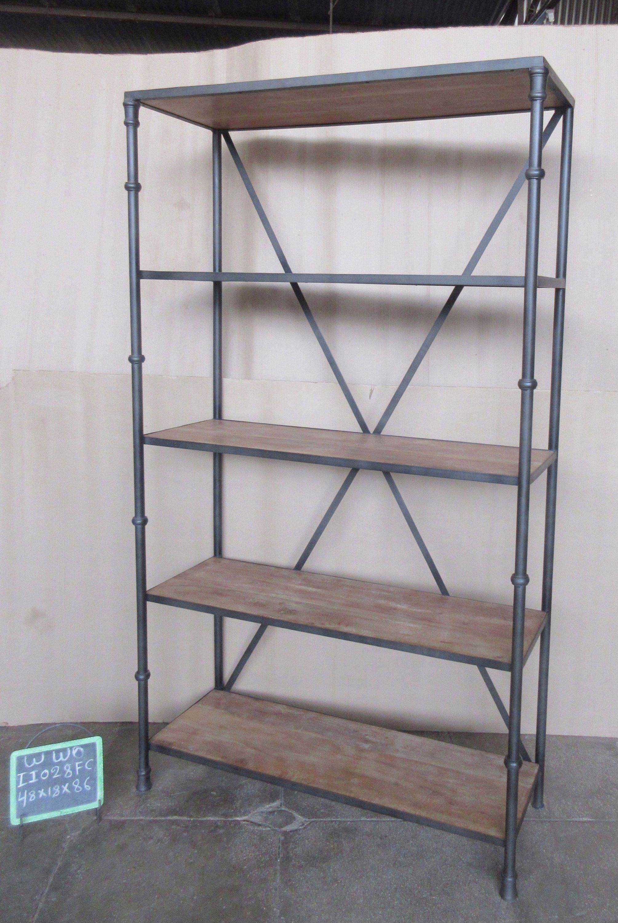 IRON + WOODEN SHELF