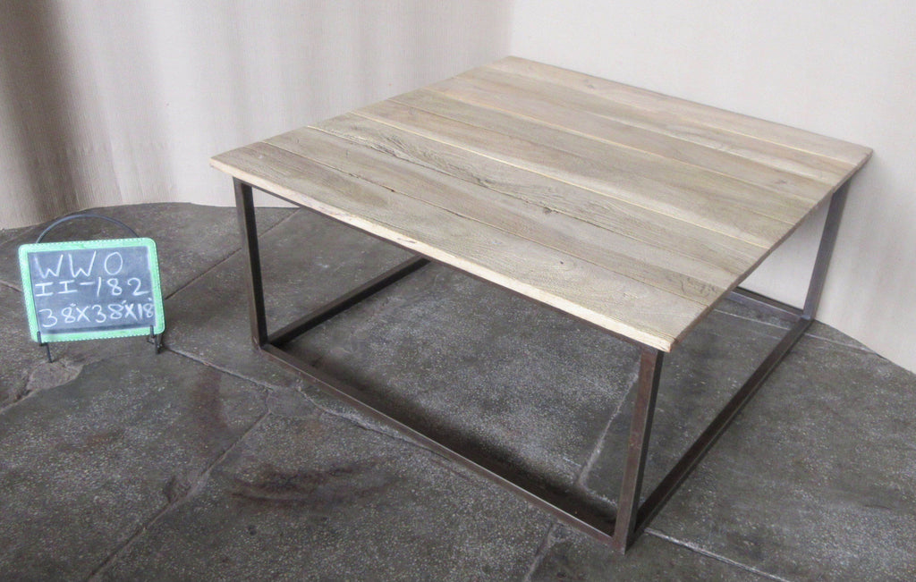 IRON+WOODEN SQR. COFFEE TABLE