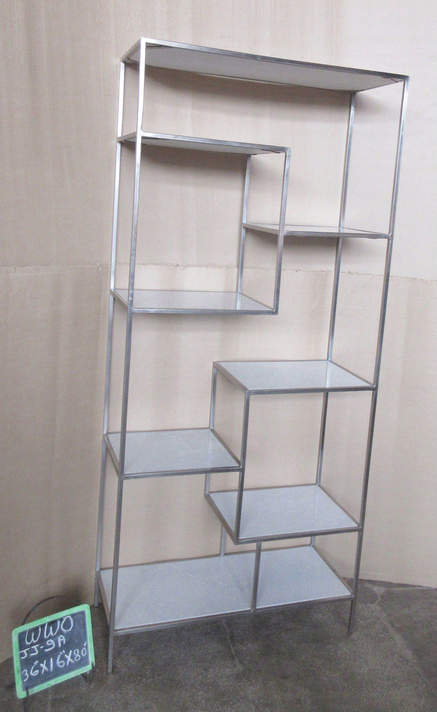 IRON SHELF WITH WHITE MARBLE