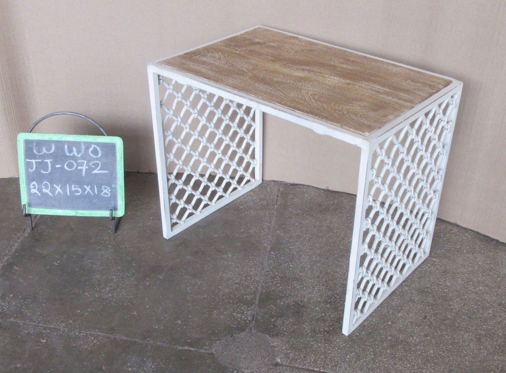 IRON + WOODEN SIDE TABLE