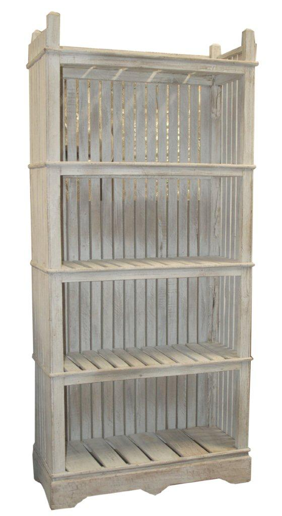 Vintage Slat-Back Shelf