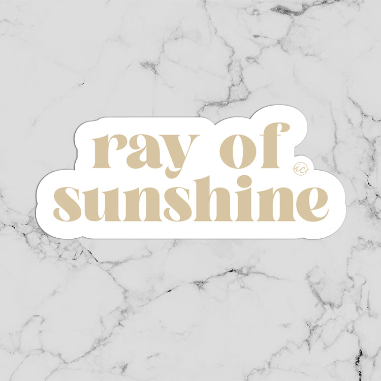 Ray of Sunshine Decal