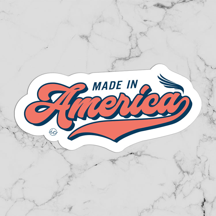Vintage Made in America Decal
