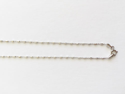 925 Sterling Silver Rhodium Plated Italy Chain - Width 1.2 mm