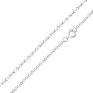 925 Sterling Silver Italian Rolo Chain Necklace - Width 1mm
