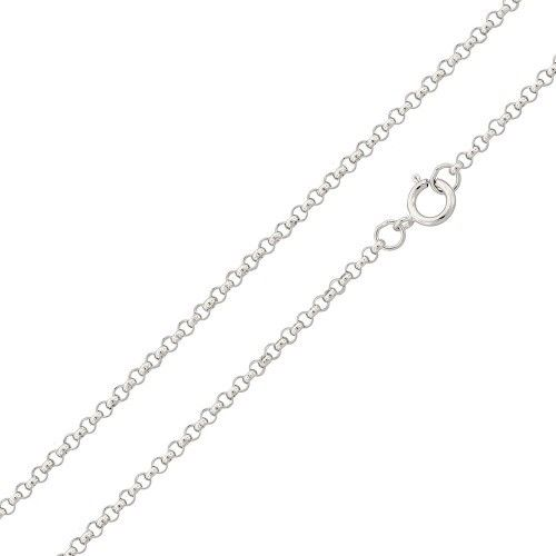925 Sterling Silver Italy Rolo Chain Necklace - Width 1.2 mm