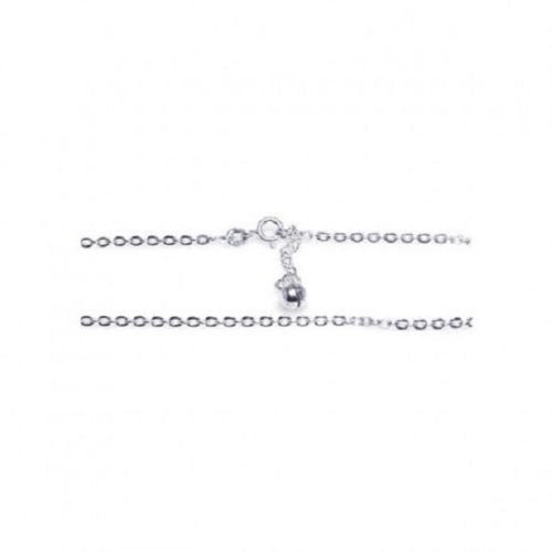 925 Sterling Silver Adjustable oval link Ankle Bracelet Anklet