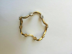 14K Gold flower bangle bracelet 5 inches for baby girl