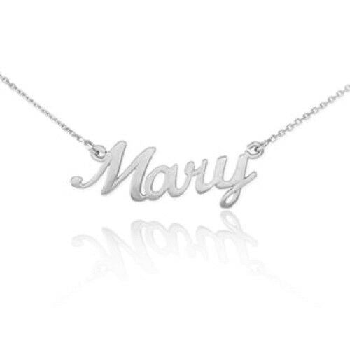 "NWT Personalized Sterling Silver Name Plate Necklace - Mary 16"" 18"" 20"" 22"""