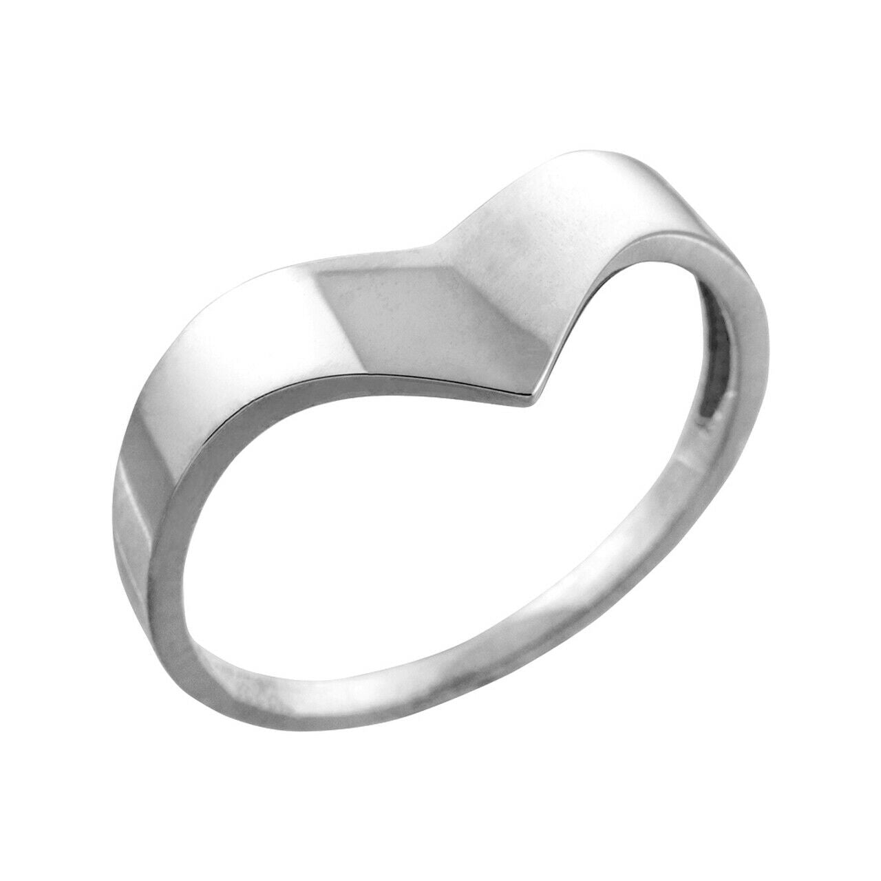 Fine Solid Sterling Silver Chevron Ring for Ladies Women - All / Any Sizes