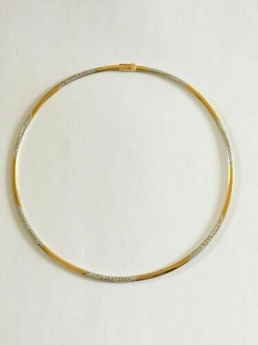NWOT 14K Yellow Gold Choker Necklace 5 inches diameter - Diamond Cut