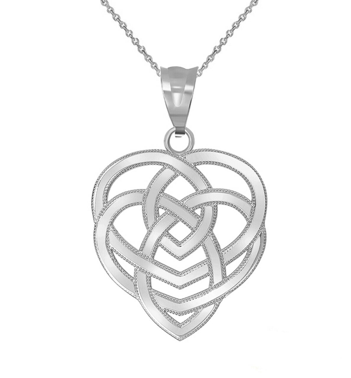 925 Sterling Silver Motherhood Celtic Holy Trinity Knot Pendant Necklace
