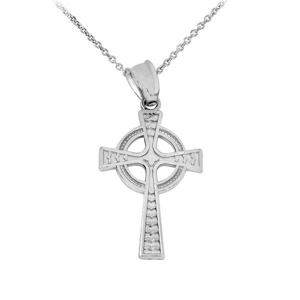 "Fine Sterling Silver Celtic Cross Pendant Necklace Made in USA 16"",18"",20"""