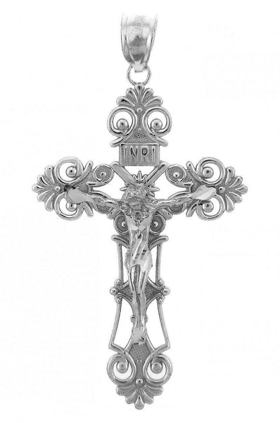925 Sterling Silver The Savior Crucifix Pendant Necklace Made in USA many length
