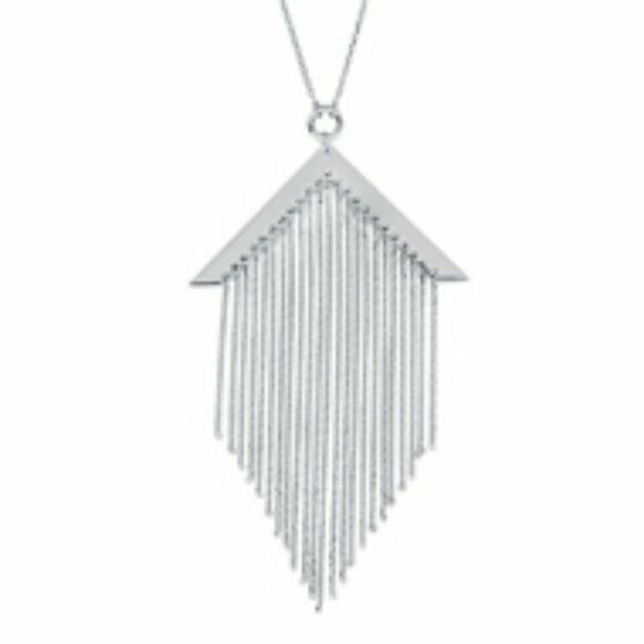"925 Sterling silver Fancy Tassel Adjustable 16""-18"" Necklace"