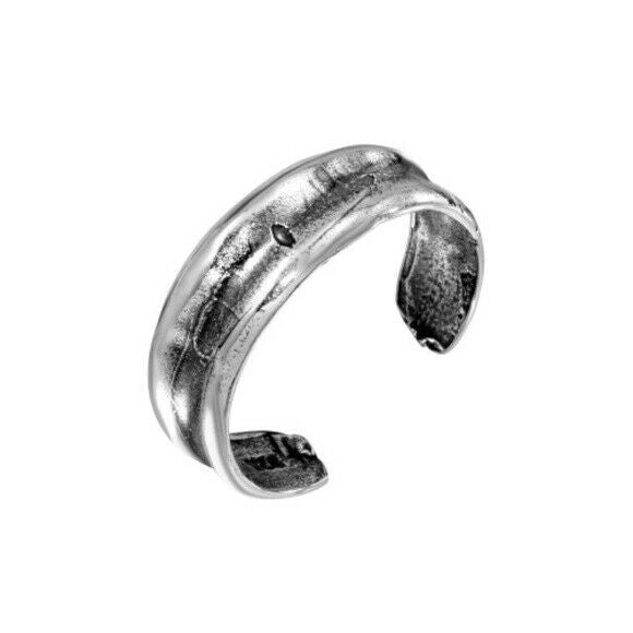 925 Sterling Silver Simple Adjustable Oxidized Toe Ring /Finger Ring