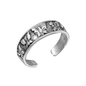 925 Sterling Silver Multi Butterfly Adjustable Oxidized Toe Ring /Finger Ring
