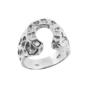 925 Pure Sterling Silver Men's Horse Shoe Nugget Ring All / Any Size Made in USA