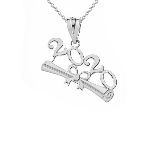 Sterling Silver Class of 2020 Graduation Pendant Necklace