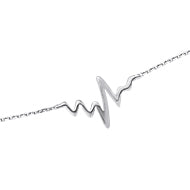 14K White Gold Heart Beat Bracelet (more colors)