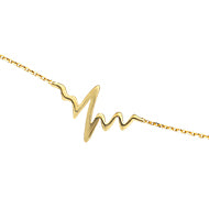 14K Gold Heart Beat Bracelet (more colors)