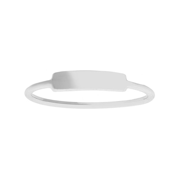 14K Gold Small ID Ring (more colors)