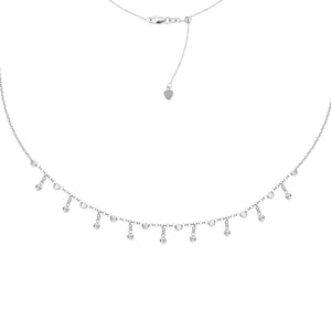 3MM CZ FASHION CHOKER NECKLACE