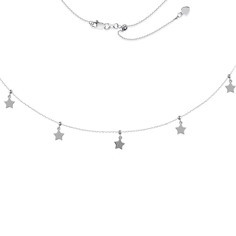 5 Pieces Dangle Star Adjustable Choker Necklace