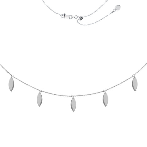 5 Marquise Dangle Drop Adjustable Choker Necklace