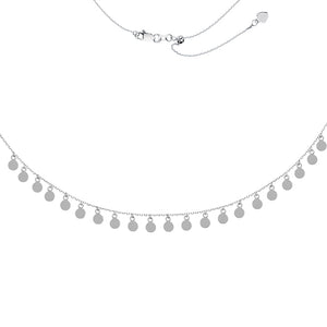 4MM Dangle Disk Adjustable Choker Necklace