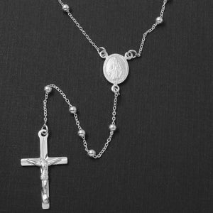 Sterling Silver 925 Adjustable Rosary Necklace
