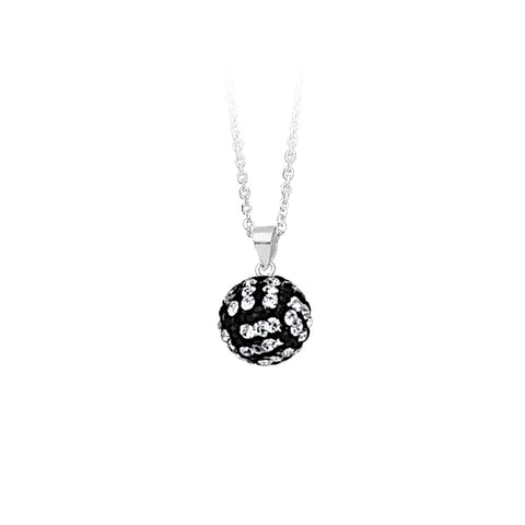 Sterling Silver 12MM Volleyball Necklace