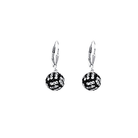 Sterling Silver 8MM Volleyball Cleverback Earrings