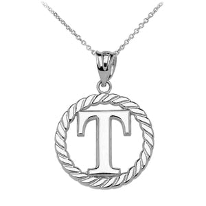 925 Sterling Silver Rhodium Plated Spirit Football Necklace University Of Tennessee 18 Inch