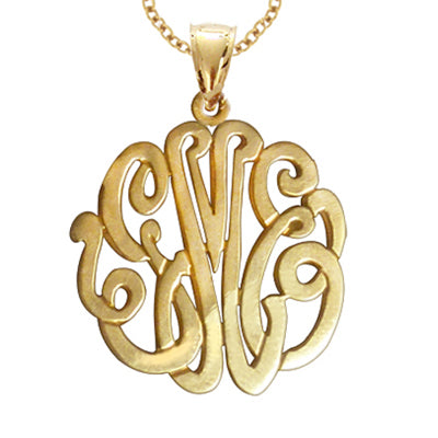 Classic Gold Monogram Necklace (Silver & Gold, many sizes)