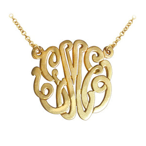 Classic Monogram Necklace with split Chain (Gold & Silver, many sizes)
