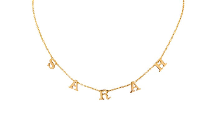 Spaced Letter Name Necklace (Gold & Silver)