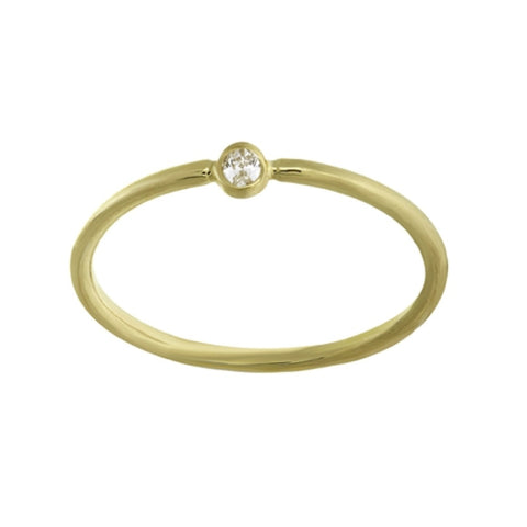 14K Yellow Gold 3PT Round Diamond Ring (more color)