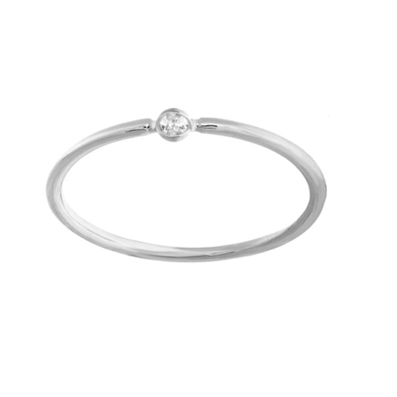 14K White Gold 3PT Round Diamond Ring (more color)