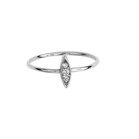 14K White Gold Diamond Marquise Cluster Ring (more color)